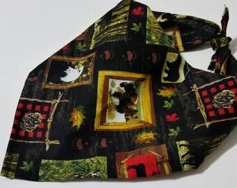 dog bandana, tie on bandanna, wilderness bandana, country bandana, dog gift,