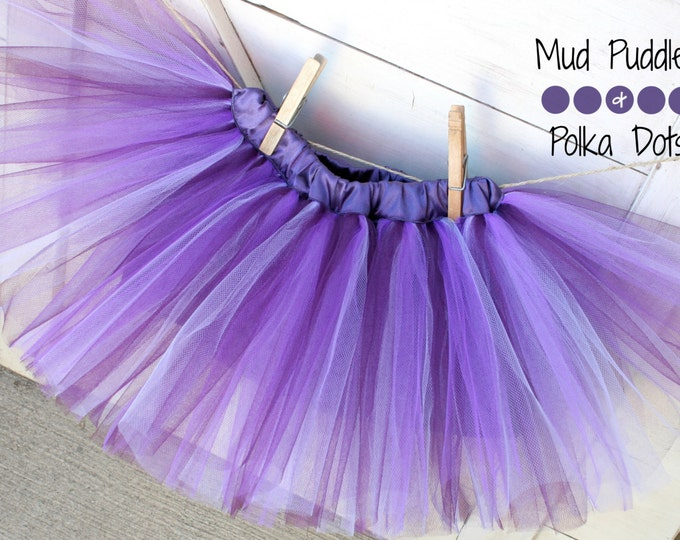 SIZE 3T - Ready to Ship - Charis Youth Ranch Shop for a Cause - Shades of Purple Lined Tutu Skirt - Toddler, purple, plum, lavender, CTT57