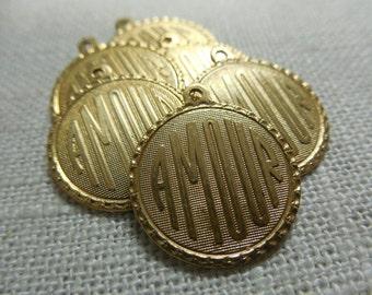 Brass AMOUR Charm
