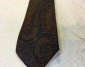 Vintage MARSHALL FIELDS Tie Silk Tie Ancient Madder J.S. Blank USA Paisley Tie