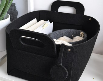 grey, Felt basket