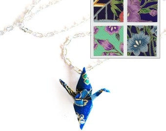 Origami Crane Necklace Big Beautiful Flowers Paper Choices Peace Crane Necklace