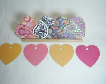 Valentine's Day Gift Tags, Heart Gift Tags, Love Gift Tags, Paisley Gift Tags, Colorful Gift Tags