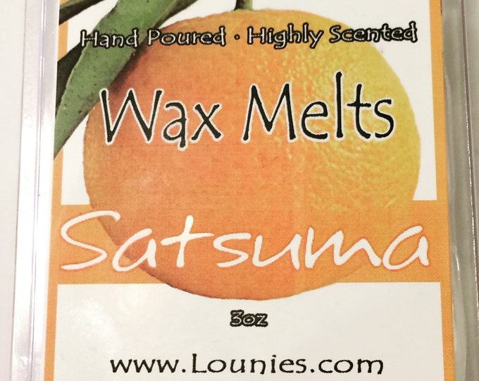 Satsuma Wax Melt | Citrus | Wax Melts | Soy Blend | Highly Scented | Orange | Wax Melter | Wax Tarts | Soy | Soy Tarts | 3oz Pack | Scents
