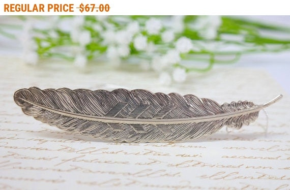 SALE - Feather Necklace, Feather Charm, Silver Necklace, Silver Wild Feather Charm Necklace, Woodland Jewelry, Silver Chain, Gift FOR HER