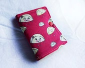 Happy Varenyky Pierogi Crayon Wallet, Red, ready to ship