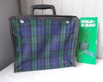 Vintage Plaid Folding Bag
