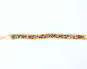 rainbow bracelets, beaded bracelets, wovenbracelet, giftsforher, editorspick, rokcandy, tweenbracelets, rokcandyjewelry, beads, aleciaskaggs