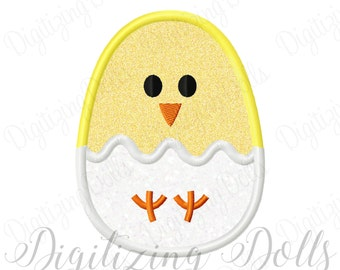 Chick Egg Applique Machine Embroidery Design 3x3 4x4 5x5 6x6 5x7 7x7 6x10 Easter INSTANT DOWNLOAD