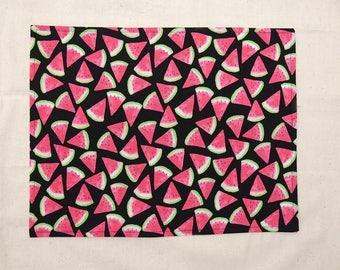 Cotton placemats, reversible, watermelon B, set of 4