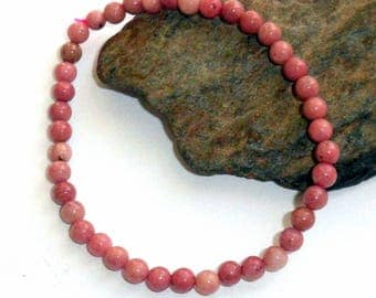 Rhodonite Stretch Bracelet Mini Adjustable earthegy #1849
