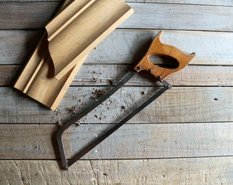 Vintage Wooden Handled Hacksaw / Miter Saw