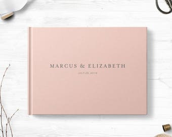 Blush wedding guestbook, Landscape or Portrait, Wedding guest book, Various colors