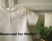 RESERVED for Molly. Aaron, 2 piece Baptism suit with cross embroidery, 2nd half payment
