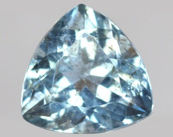 AQUAMARINE (33247) - Super Sparkly & Great to the eye! 6.7 x 6.6mm Light Blue Aquamarine - Mined in Brazil