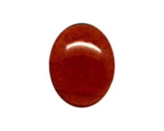 HESSONITE GARNET (33718)  * * * * 10 x 12mm Deep Red Hessonite Garnet Cab / Cabochon