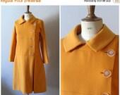 50% OFF SALE vintage 1960s does 20s drop waist bright orange dress coat / 60s mad men avant garde dress