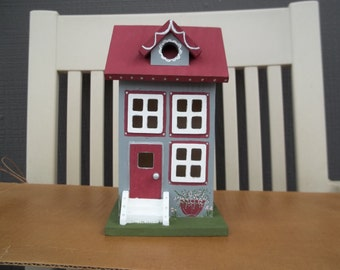 Large Decorative Grey Birdhouse # 236