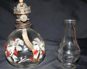 Glamor-Lite Mini Perfumed Oil Kerosene lamp -Vintage Rare 1950 P and A Mfg. Co. Glamor-Lite Mini Perfumed Oil Kerosene Lamp