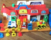 Fisher-Price Toy #2500 Little People Main Street near complete