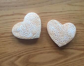 Cantaloupe Heart Magnet