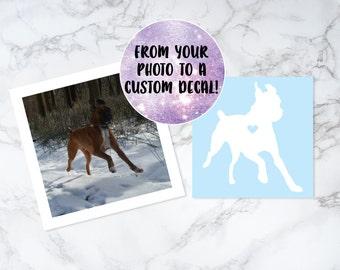 Pet Portrait, Dog Portrait, Personalized Pet Decal, Custom Dog Portrait, Custom Dog Decal, Personalized Pet Portrait
