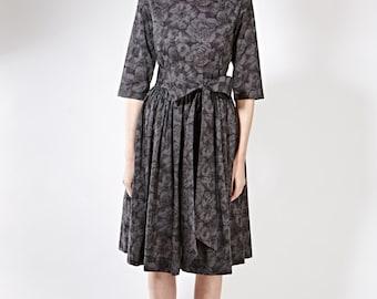 Classic dress 1950 party dress Formal dress Prom dress Long sleeve dress Mother of the bride Handmade dress Dress size XS S M L XL 1X