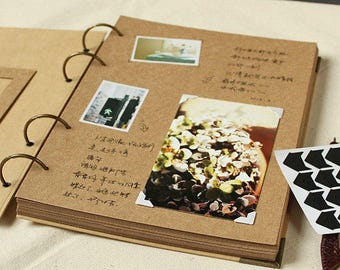 DIY Kraft Paper Wedding Album Scrapbook Album Photo Album