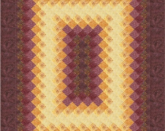 Glowing Rectangle Quilt ePattern, 4996-1e, Twin quilt pattern, Timeless Treasures Tonga Vineyard