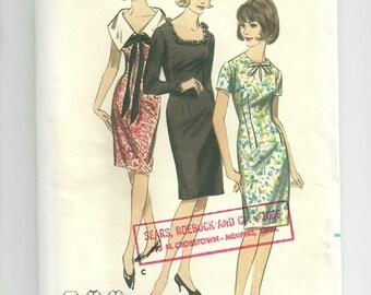 Vintage Dress Pattern Butterick 3767 Size 12 Bust 32