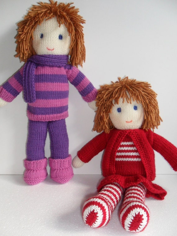 Knitting Doll How To Use : Toy doll knitting pattern pdf instant download from