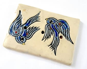 Swallows Ceramic Soap Dish Swallows Rockabilly Pottery Atlanta Ceramics Clay