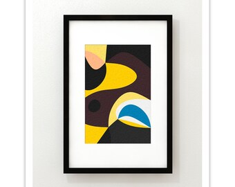 IMPRESSION no.1 - Giclee Print - Mid Century Modern Danish Modern Abstract Art Print