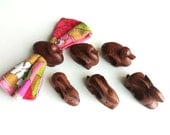 Vintage Wooden Napkin Rings Animals, set of 6 rabbits and ducks