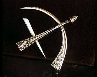 Sagittarius ~ Bow and Arrow Zodiac Sculpture, one of a kind, made to order, each slightly different, cut, twisted, welded, polished