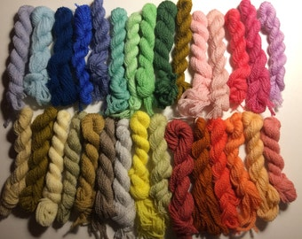 Clearance Paternayan Wool Needlepoint Yarn Destash lot 10 20 30