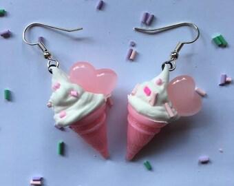Small Ice Cream Earrings