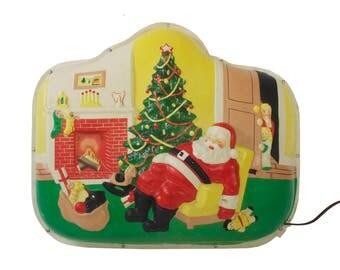 Sleeping Santa Illuminated 3D Wall Display - Paramount Illuminated Plaque Display
