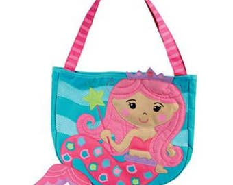 Personalized Stephen Joseph MERMAID Beach Tote,  CHILDS TOYS, Playset,  Girls, Mermaid Tote, Beach Toys