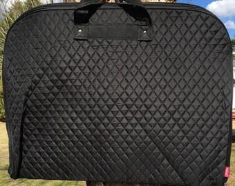 Personalized Girls Dance Bag/Garment Bag-Black Garment Bag, Black Dance Bag, Quilted Garment Bag