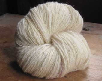 Handspun Kent Romney yarn, DK light worsted, 220g, 450+ yards,  proceeds to charity,