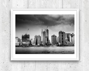 Midtown and Empire State, New York City, Unframed Black and White Fine Art Photograph