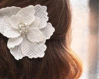 Wedding Accessory Bridal Flower Clip Embroidered  123 cc  tenx tt  sos Steam  ocean
