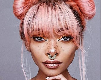Gold Septum Jewelry - Gold Nose Ring - Lace Septum Ring