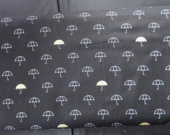 Riley Blake Fabric  - When Skies Are Grey - SC5600 Main Black Sparkle Umbrella