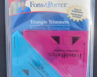 Fons and Porter -Ruler 1/2in and Inch square 2 piece Triangle Trimmers  FPR7847