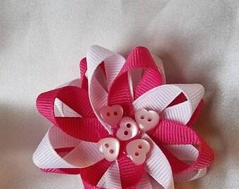 Hearts loopy bow