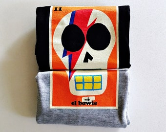 "Kid's ""el.Bowie"" (David Bowie) Sugar Skull Tee"