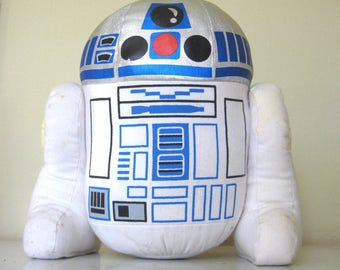1977 Vintage Star Wars R2D2 Plush Toy // Squeak Top // Moveable Legs