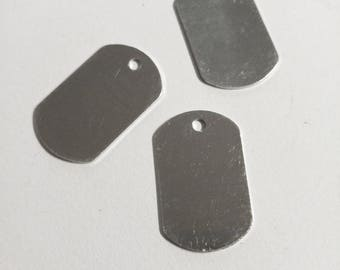 Metal Stamping Blanks Dog Tag Blanks Silver Dog Tag Blank Dog Tags Hand Stamping Blank Silver Tag Blanks Tag Pendants Aluminum Blanks 4 PRE